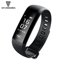 [Vestmadra] Smart Fitness Bracelet Watch Intelligent 50 Word Information Display Blood Pressure Heart Rate Monitor Blood Oxygen(China)
