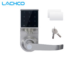 LACHCO Free Express Smart Electronic Door Lock Touch Screen Keypad Password, Code, Mechanical Key Spring Bolt Keyless SL16092S(China)