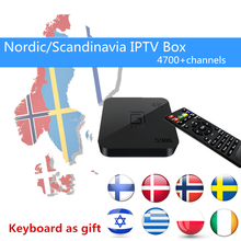Best Gotit S905 Android TV Box with 1 Year 4700+Arabic European Scandinavia Nordic IPTV Live TV & VOD XBMC free smart tv box(China)