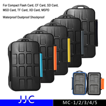 JJC MC Series Digital Camera Memory Card Case Waterproof Dustproof Shockproof For Compact Flash CF SD Card TF Micro SD XD Card(China)