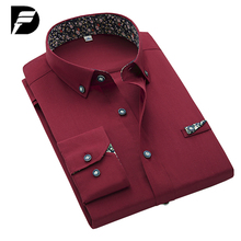 New Brand Mens Black Dress Shirt Male Fashion Solid Mens Casual Shirts Luxury Men Dress Shirts Camisa Masculina Plus Size S-4XL