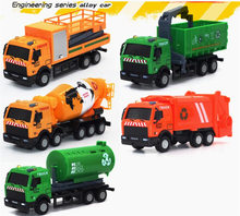 1:43 High Quality Alloy Vehicles Model Toy Mini Tractor China Toy Crane Fire Car Dinky Model Cheap Toys For Children Boy Gift