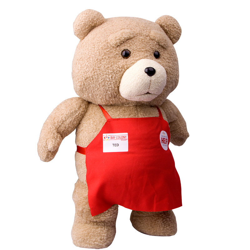 Big Size Teddy Bear Ted 2 Plush Toys In Apron 28-48CM Soft Stuffed Animals Ted Bear Plush Dolls For Baby Kids Christmas Gifts<br><br>Aliexpress