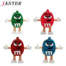 JASTER Cute Cartoon M&m's Chocolate M Bean 4gb/8gb/16gb/32gb Usb Flash Drive Pendrive 8gb 16gb Memory Stick Pen U Disk