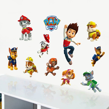 Cartoon Paw Patrol Snow Slide Wall Stickers Home Decor Kids Room Decoration PVC Diy Art Game Poster Paw Patrol