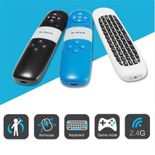Multifunction Air Mouse Wireless US Keyboard Remote Control with laser pointer for Mini PC/Android TV/Smart Box  plug and play