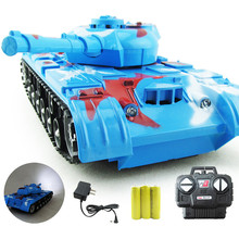 Remote Control Tank New Design RC Fighting Battle Tanks Kids Toys Remote Control Battling Tank Toys with Lights and Sounds(China)