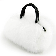Rabbit Fur Women Messenger Bags Women Leather Handbag Luxury Handbags Women Bags Designer Bags Handbags Women Famous Brand