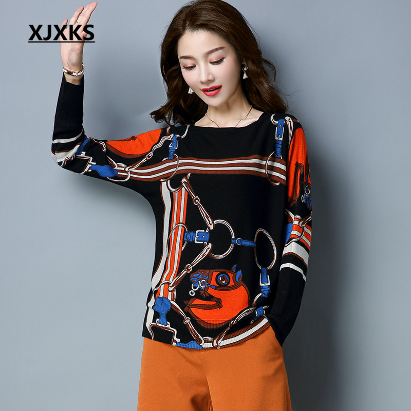 XJXKS Female Sweater Autumn 2018 Wool Comfortable Pullovers Jumper Long Sleeve Casual Style Women Pullover Sweaters