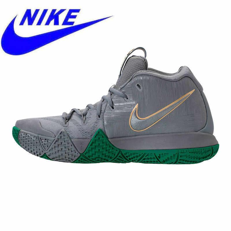 sports shoes 9780a e4398 Original Nike Kyrie 4 City Guardians Men Basketball Shoes, Dark Grey,  Shock-absorbing