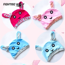 Kids Swimming Caps Children Cute Cartoon Swimming Pool Hat Water Sport Diving Quick Drying Sunscreen Breathable Headwear(China)