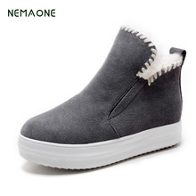 NEMAONE Snow boots women short tube 2017 women shoes winter new bow of wild pink cute warm students snow shoes(China)