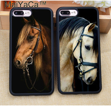 MaiYaCa Handsome Horse Animal Phone Case For iPhone 8 7 7Plus 6 6S Plus 5 5S 5C SE 4S Soft Rubber Skin Case Cover Coque Fundas