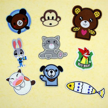 Fabric Embroidered Animal Cartoon Patch Cap Clothes Stickers Bag Sew Iron Applique DIY Apparel Sewing Clothing Accessories BU59(China)