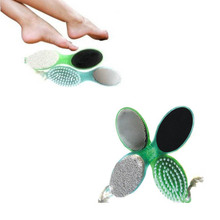 Foot Care Callus Brush Pumice Grinding Feet Stone Scrubber Pedicure Exfoliate Remover Cleaning Dust Dead Skin 2017 201 2(China)