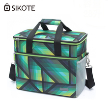 SIKOTE Portable Cooler Bag Insulation Lunch Box Solid Tote Bag Waterproof Crossbody Picnic Bag Green Lancheira Termica Marmitas(China)