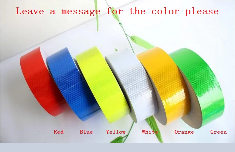 5cm*50M Reflective Warning Safety Adhesive Tape Bike Truck Car Motorcycle PVC Reflective Self-adhesive Warterproof Tapes<br>