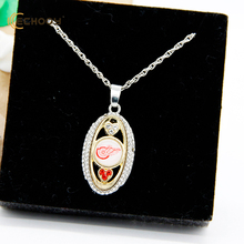 drop shipping Detroit Red Wings Pride oval woman Pendant fashion popular sports Necklace that a best b Christmas gift(China)