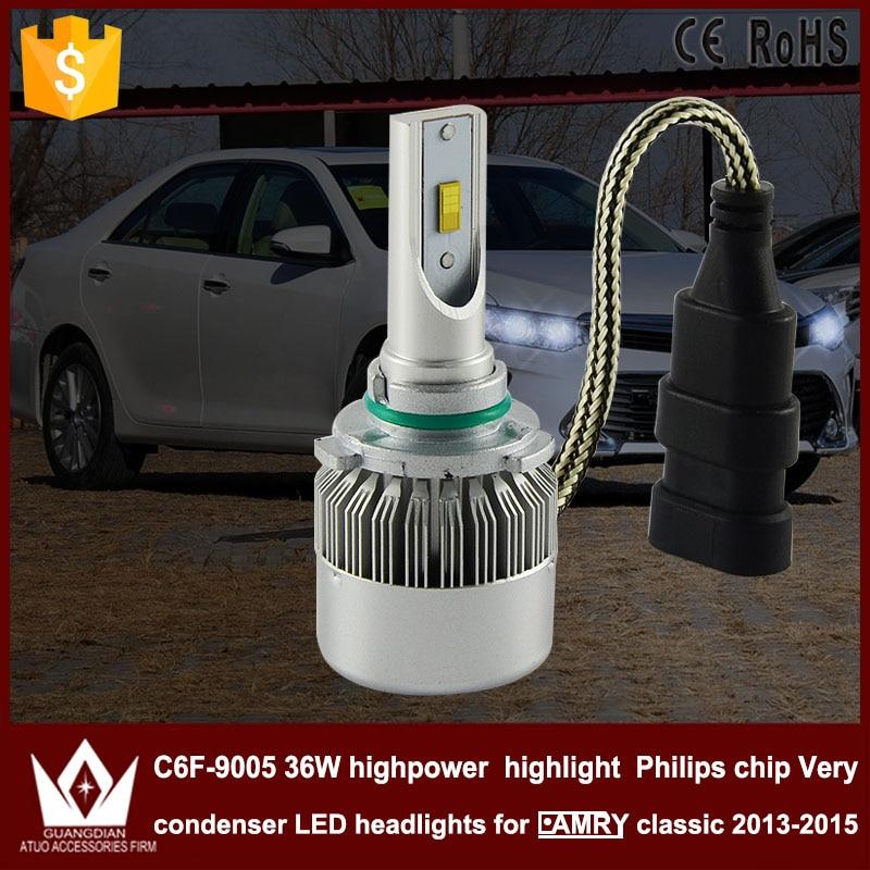 Guang Dian car led light 9005 Headlight Head lamp high beam C6F 6000K white 9005 HB3 for TO-Y-O-TA For camry classic 2013-2015 <br><br>Aliexpress
