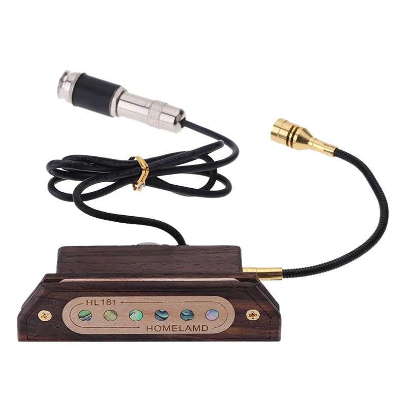 Magnetic Soundhole 39/40/41/42Acoustic Guitar Pickup Humbucking Amp T7V0<br>