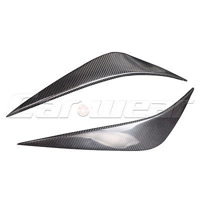 Carbon Fiber Front Headlight Cover Eyelid Eyebrow For Subaru Legacy 10-14<br>