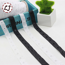 New arrived 5yd/lot 18mm black white plastic snap button ribbon tape trim for garment bag sewing accessories scrapbooking DIY(China)