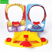 Funny Double Person Toy Cake Cream Pie Cake To Face Anti Stress Toy for Kids Party Fun Game Prank Jokes for Kids Gift