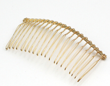 20 pcs 20Teeth Gold  Metal Hair Combs DIY Jewelry Accessories Findings & Components