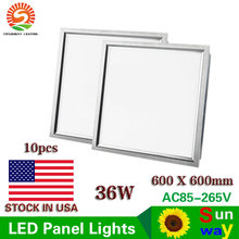 LED Panel Lights 36W 600x600mm Led Ceiling Panel Light 2x2ft Led Lamps AC85-265V Indoor LED Ceiling Panels + US STOCK(China)