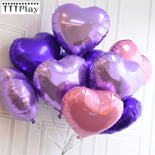 5pcs/lot 18inch Romantic Heart Shape Aluminum Foil Balloons Wedding Decoration Helium Balloon Inflatable Air Ball Party Supplies(China)