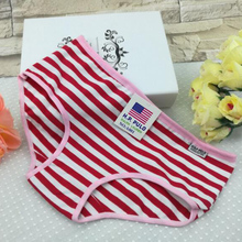 Top Quality Soft Women Series Striped Panties Cotton Briefs Female Underwear Mid-Rise Panties Fashion Women Accessories Gifts