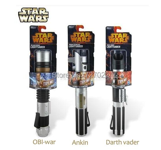 Hot Selling new arrival Star Wars Jedi(OBI-war.Darth vader.Ankin etc) lightsaber &amp; no light sword Force 1pc free shipping<br><br>Aliexpress