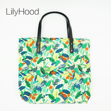 LilyHood Female Leisure Floral Printing Big Tote Bag Casual Top-Handle Cute Fabric Book Beach Summer Overnight Weekend Handbags(China)