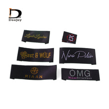 2000pcs/lot customized brand main labels satin garment labels woven & printed high quality demands