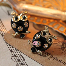 2016 Animal Women Crystal Zinc Alloy Special Offer Earings Brinco New Fashion Trendy Exquisite Lovely Owl Stud Earrings Jewelry