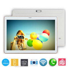 DHL Free Shipping 10 inch Tablet PC Octa Core 4GB RAM 32GB ROM IPS Android 5.1 unlocked Phone Tablet 10 10.1 inch