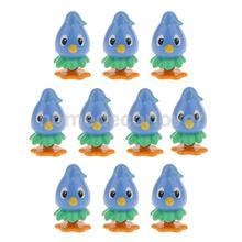 10 pcs Adorable Cartoon Blue Bird Miniature Landscape Bonsai Dollhouse Decor(China)