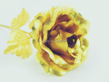 Lover's gift, Christmas gift Gold Rose with gift box,Dipped in 24K Gold, bud and bloom can select(China)