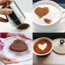 New Hot sale Stainless Steel Chocolate Shaker Flour Powder Icing Sugar Coffee Sifter + Lid 3YN(China)