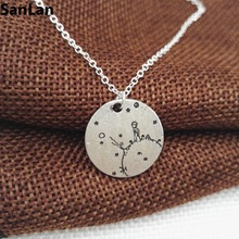 1pcs new Arrival lonely The Little Prince Necklace under the moon with star Gift for Her Reader Book Lover Gift SanLan