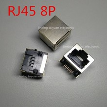 Buy High 10pcs/Lot RJ45 Connector RJ45 Socket 8Pin PCB Mounting Network Adapter Ethernet Network Data Transfer IC... for $3.58 in AliExpress store