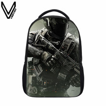 VEEVANV 2017 Call Of Duty Bags Ghost School Bag Kids Teenagers Backpack Cool Battlefield Bags For Children Bookbags Fans Gifts(China)