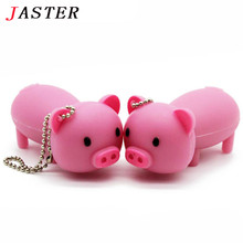 JASTER lovely pig usb flash drive cute cartoon pendrive 4gb 8gb 16gb 32gb memory stick USB 2.0 Gifts beauty pendant