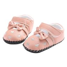 Anti-Slip Sneakers Soft Bottom Shoes First Walkers Newborn Baby Kid Love Embroidered Shoes Bowknot Toddler Soft Sole Shoes