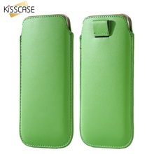 KISSCASE For iPhone 7 Case Universal Luxury PU Leather Cell Phone Accessories Sleeve Pouch Case For Apple iPhone 6 6S 7 5 5S SE