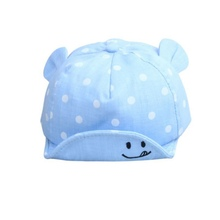 Baby Kids Fashion Dotted Ears Flap Decoration Soft Edge Cap Girls Boys Cute Hats 6~24M