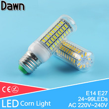 Bombilla LED 24~99LEDs Corn LED Bulb E27 E14 220v 110v LED Lamp SMD 5730 3W 7W 9W 12W 15W 18W Warm Cold white Ampoule Lampada(China)