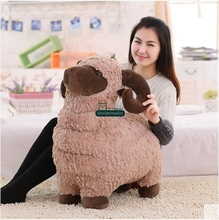 Dorimytrader 60cm Big Animal Sheep Stuffed Toy Soft Cute Goat Plush Pillow Kids Play Doll Baby Present DY61376