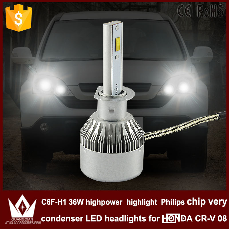 Guang Dian car led light h1 Headlight Head lamp with mute fan h1 low BEAM Dipped Beam C6F 6000K white for CRV CR-V 2008 year<br><br>Aliexpress