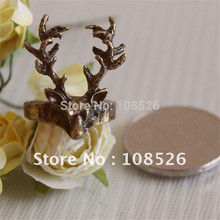 ENZE Free shipping Fashion design restores ancient ways deer head ring